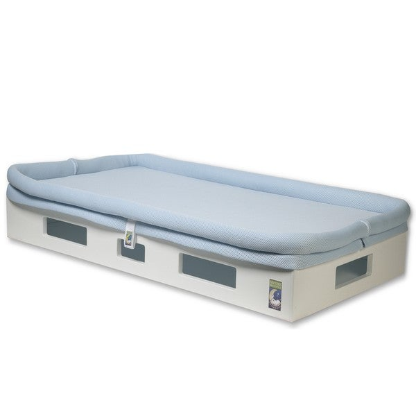 Shop Safesleep Breathable Light Blue Crib Mattress And White Base Free Shipping Today