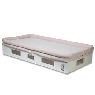 SafeSleep Breathable Pink Crib Mattress and White Base