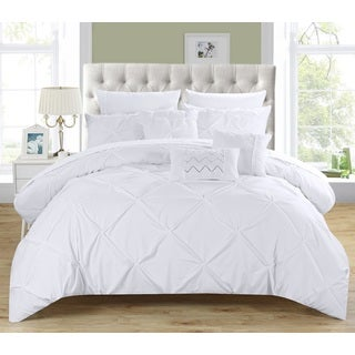 Chic Home Valentina White 8-Piece Bed in a Bag with Sheet Set