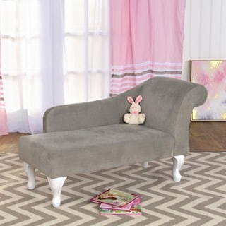 HomePop Diva Juvenile Accent Chair Dove Gray
