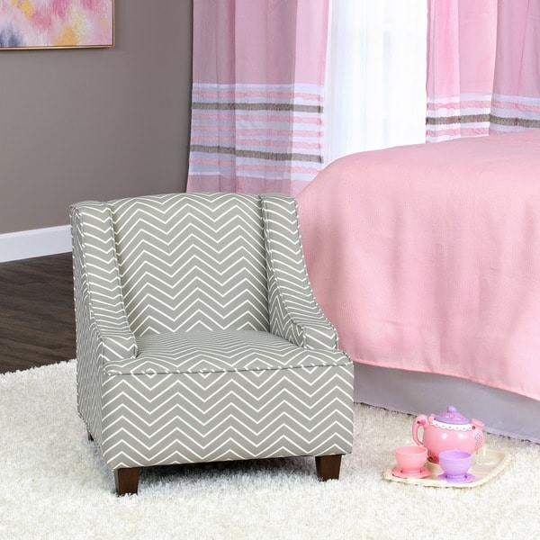 HomePop Cameron Juvenile Swoop Arm Accent Chair. Opens flyout.