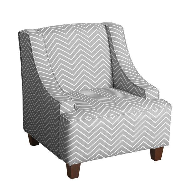 Homepop Cameron Juvenile Swoop Arm Accent Chair 19063949