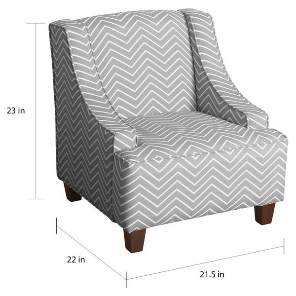 HomePop Cameron Juvenile Swoop Arm Accent Chair