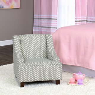 HomePop Cameron Juvenile Swoop Arm Accent Chair