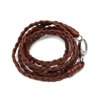 Handmade Brown Leather Veda Bracelet (India)