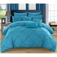 Chic Home Valentina Turquoise 8-Piece Bed in a Bag with Sheet Set