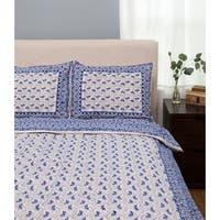 Handmade Paisley Pattern Duvet Cover Set - Indigo Queen (India)
