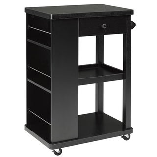 Brassex Black Kitchen Cart