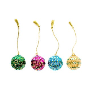 India Rajasthani Holiday Ornaments - (Set of 4)