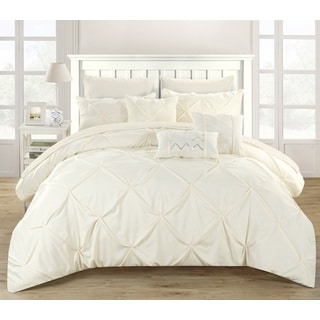 Chic Home Valentina Beige 8-Piece Bed in a Bag with Sheet Set