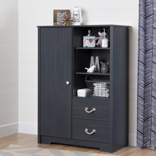 Aviron Blue Armoire with Drawers