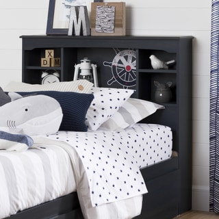 South Shore Aviron Twin-size Blueberry Bookcase Headboard