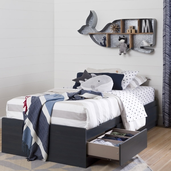 South Shore Aviron Blueberry 3-drawer Twin-size Bed