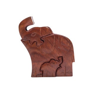 Link to Handmade Mama Elephant Puzzle Box (India) Similar Items in Games & Puzzles