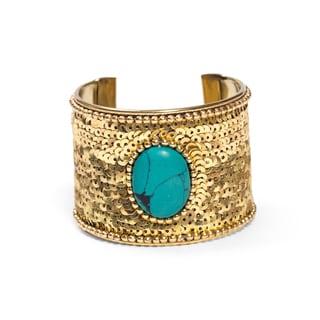 Handmade Nefertari Cuff - Gold (India)