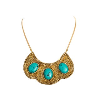Nefertari Bib Necklace - Gold (India)