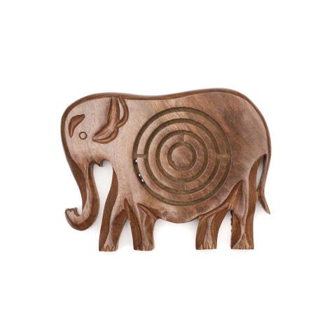 Handmade Wooden Labyrinth - Elephant (India)