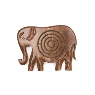 Link to Handmade Wooden Labyrinth - Elephant (India) Similar Items in Games & Puzzles