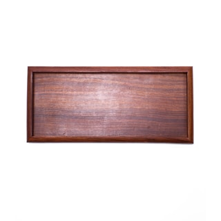 Handcrafted Solid Rosewood Tray (India)