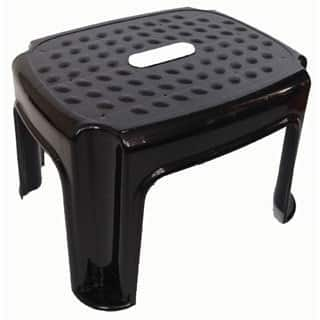 YBM Home Black Plastic Step Stool (Option: Black)|https://ak1.ostkcdn.com/images/products/12218612/P19064107.jpg?impolicy=medium
