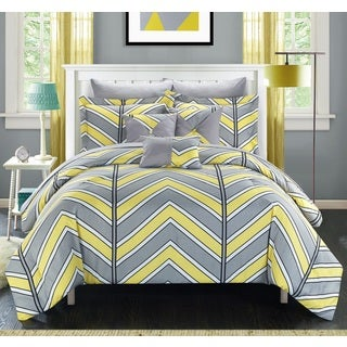 Chic Home Roxy Yellow 10-Piece Bed in a Bag with Sheet Set