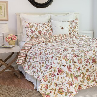 Gracewood Hollow Lewis Reversible Floral Pink Quilt Set