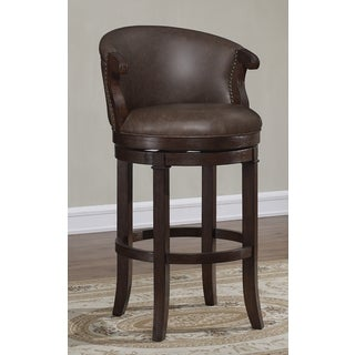 Greyson Living Murphy Brown Bonded Leather Swivel Counter Stool