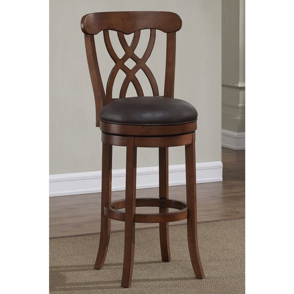 Greyson Living Lelia Dark Brown Swivel Bar Stool Free