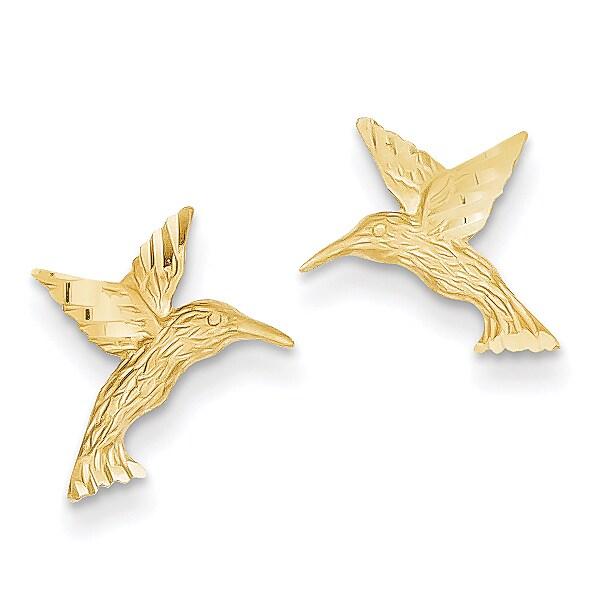 14k Hummingbird Earrings by Versil (Post & Push Back), Wo...