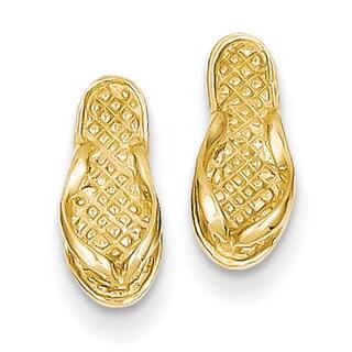 14k Flip Flop Earrings by Versil