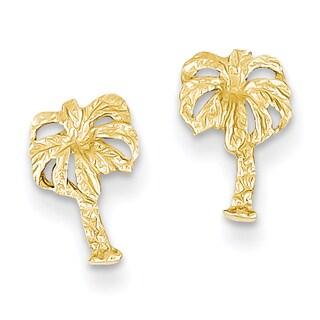 14k Palm Tree Post Earrings by Versil