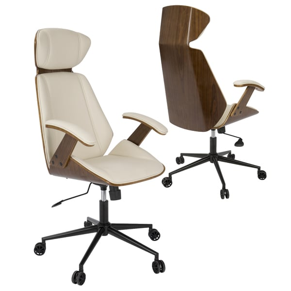 Shop Spectre Mid Century Modern Walnut Wood Office Chair Free