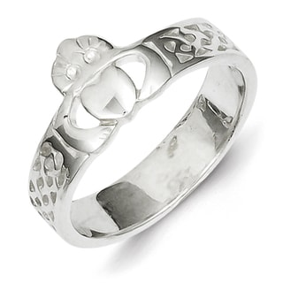 Sterling Silver Casted Claddagh Ring by Versil