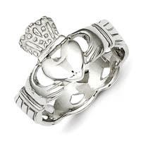 Sterling Silver Claddagh Ring with Polished Finish by Versil