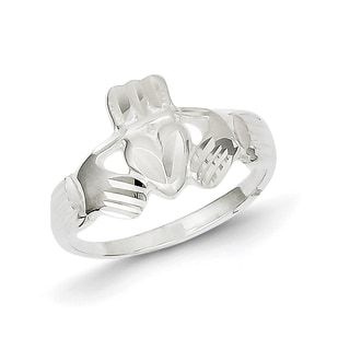 Solid Sterling Silver Claddagh Ring by Versil