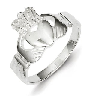 Sterling Silver Claddagh High Polished Ring by Versil