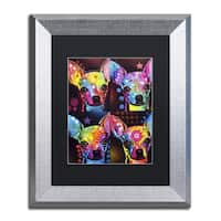 Dean Russo 'Chihuahua 4x' Matted Framed Art