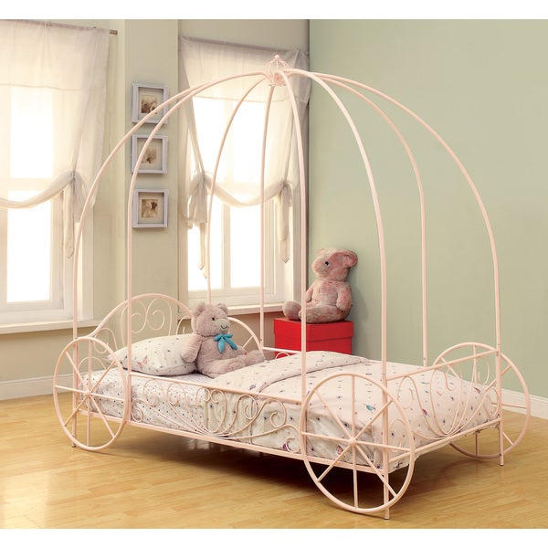 Shop Coaster Company Princess Pink Canopy Twin Bed - Free Shipping ...