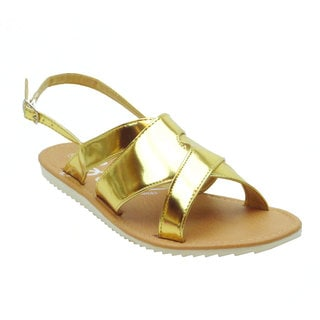Blue Women's Elash Metallic Fashion Sandals