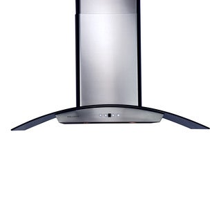 30-inch Wall Mount Glass Canopy Chimney Range Hood with an 860 CFM in Stainless Steel