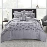 Urban Habitat Bellina Grey Cotton 7-piece Comforter Set