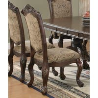 Coaster Company Andrea Dining Collection Brown and Beige Upholstered Dining Chair