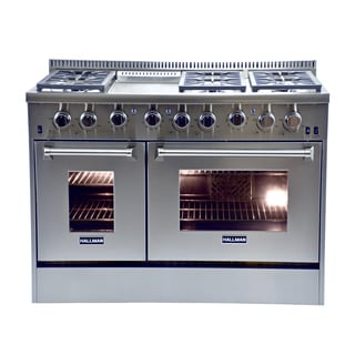 Hallman 48-inch Stainless Steel Professional Convection Gas Range
