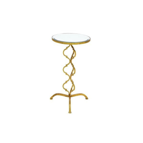 Metal mirror accent table 16 inches wide x 30 inches high for Coffee tables 16 inches high