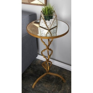 Metal Mirror Accent Table (16 inches wide x 30 inches high)