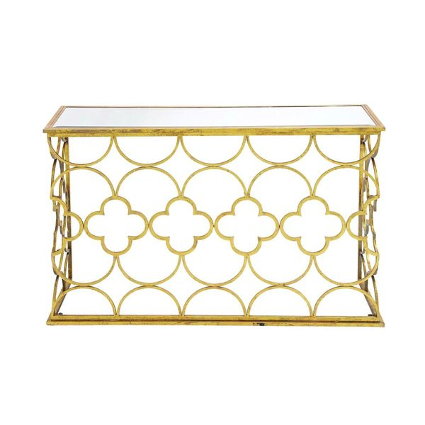 Metal mirror console table 49 inches wide x 31 inches for 24 wide console table