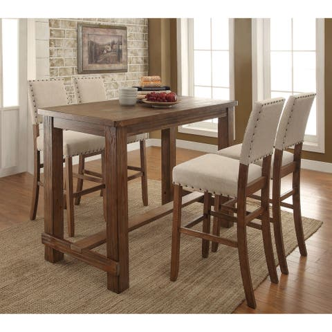 Furniture of America Tays Contemporary Brown Solid Wood 5-piece Bar Set