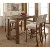 Furniture of America Telara Contemporary Natural 5-Piece Bar Table Set