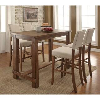 Furniture of America Telara Contemporary Natural 5-Piece Bar Table Set