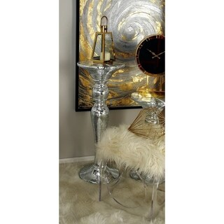 Mirror Pedestal Table (14 inches wide x 36 inches high)